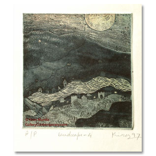 Kiran Murdia, etching and acquatint