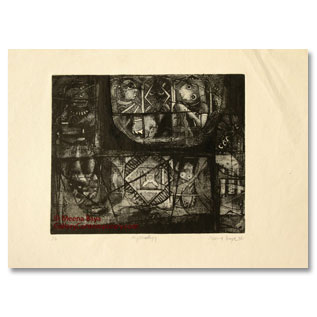 Ajit Seal  Etching and acquatint ,  contemplation 2007, 6(2)=1,  PaperAcidFreeBrand , 55x50 (gal), 40.5x35.5, status,  TotalSold ,32000,.JPG